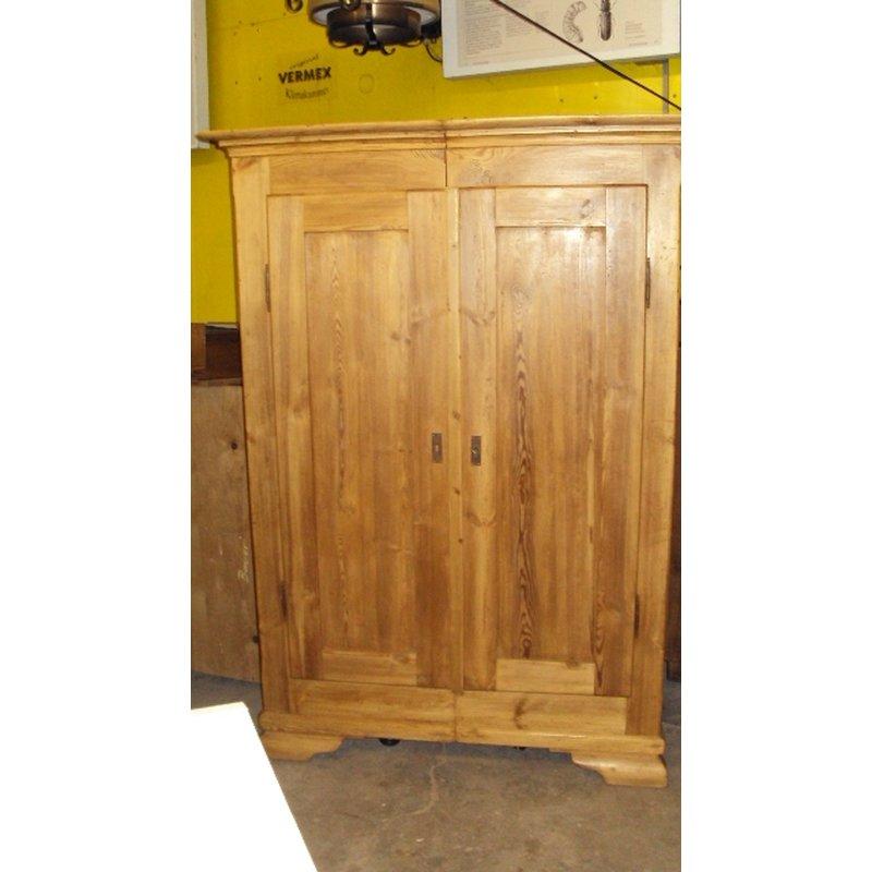 schrank kleiderschrank 2 t rig weichholz garderobenschrank antik. Black Bedroom Furniture Sets. Home Design Ideas