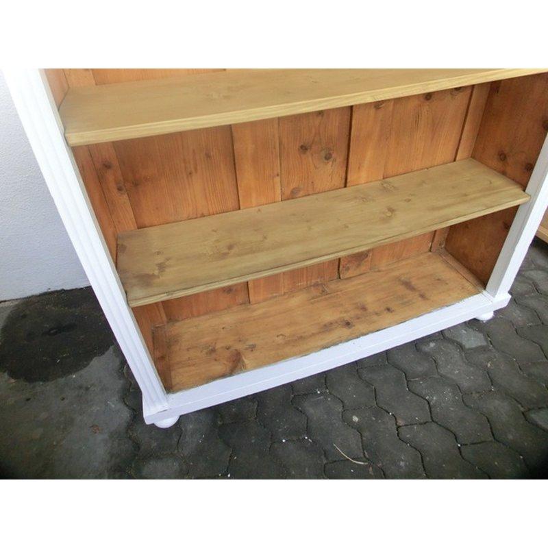 regal weichholz b cherschrank schrank b cherregal im shabby chic. Black Bedroom Furniture Sets. Home Design Ideas