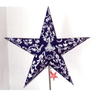 Starlightz Stern, earth friendly, Leuchtstern rokkoko blue/white